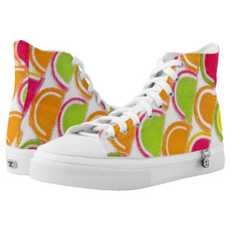 Colorful Different Jelly Candy High Tops