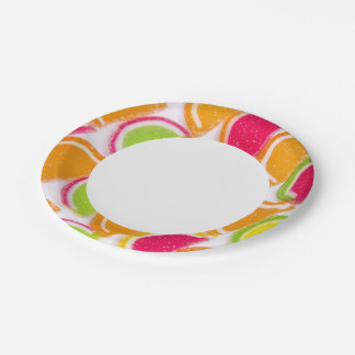 Colorful Different Jelly Candy Paper Plate