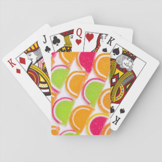 Colorful Different Jelly Candy Playing Cards