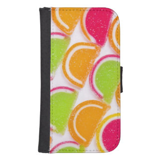 Colorful Different Jelly Candy Samsung S4 Wallet Case