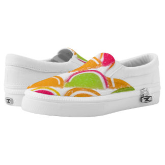 Colorful Different Jelly Candy Slip-On Shoes