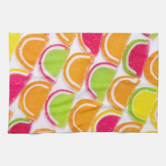 Colorful Different Jelly Candy Tea Towel
