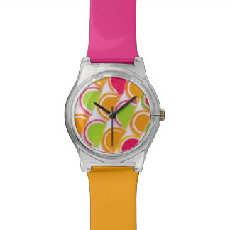 Colorful Different Jelly Candy Wrist Watches