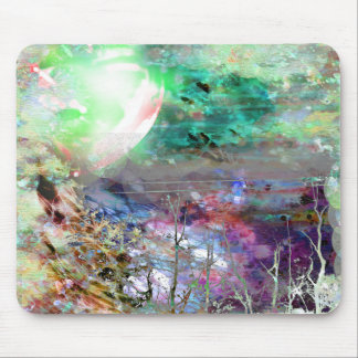 Colorful Digital Collage Mousepad Mouse Pad