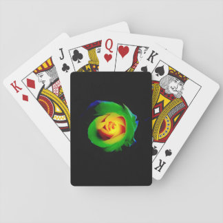 Colorful Digital Rose Playing Cards