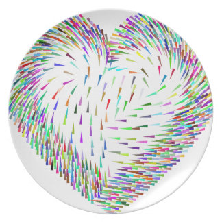 colorful dinner plate