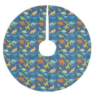 Colorful Dinosaur Pattern Brushed Polyester Tree Skirt