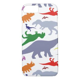 Colorful Dinosaur Pattern (Light) iPhone 7 Case