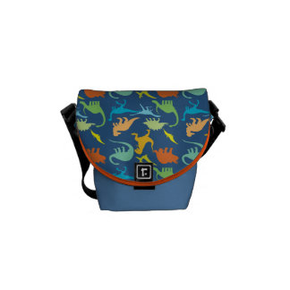 Colorful Dinosaur Pattern Messenger Bag