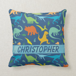 Colorful Dinosaur Pattern to Personalize Cushion