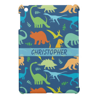 Colorful Dinosaur Pattern to Personalize iPad Mini Cases