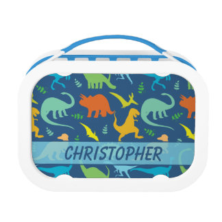 Colorful Dinosaur Pattern to Personalize Lunch Box