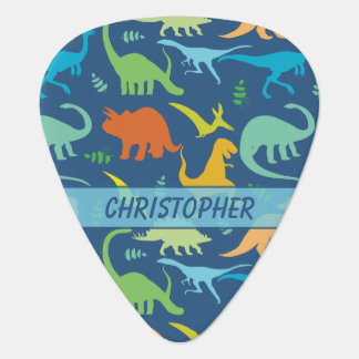 Colorful Dinosaur Pattern to Personalize Plectrum