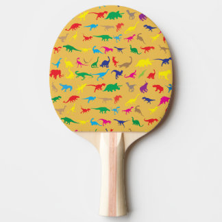 Colorful dinosaurs ping pong paddle
