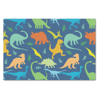 Colorful Dinosaurs Tissue Paper