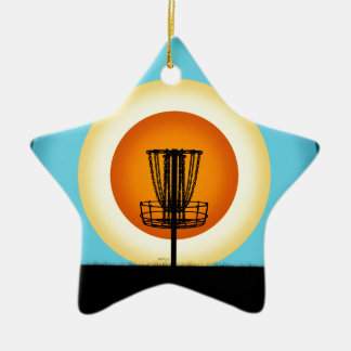 Colorful Disc Golf Basket Christmas Ornament
