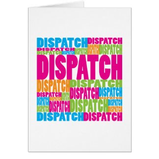 Colorful Dispatch Greeting Card