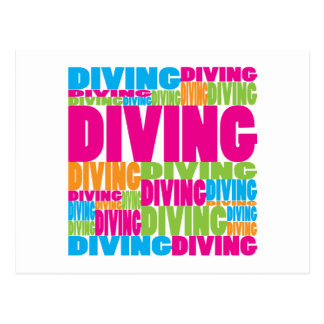 Colorful Diving Postcard