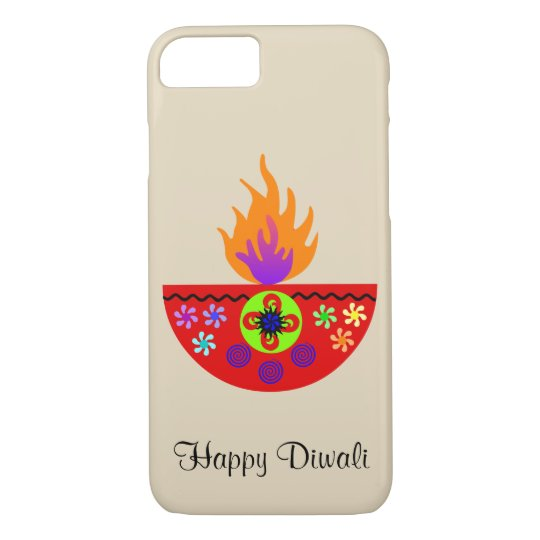 Colorful Diwali Lamp Diya iPhone 8/7 Case
