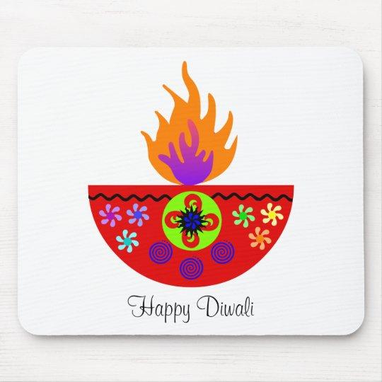 Colorful Diwali Lamp Diya Mouse Mat