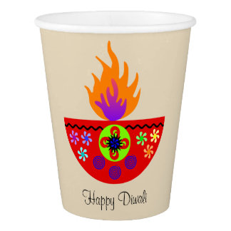 Colorful Diwali Lamp Diya Paper Cup