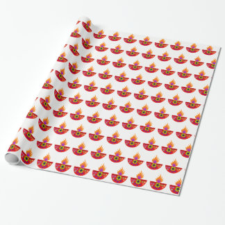 Colorful Diwali Lamp Diya Wrapping Paper