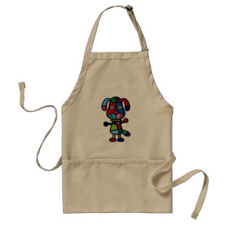 colorful dog standard apron