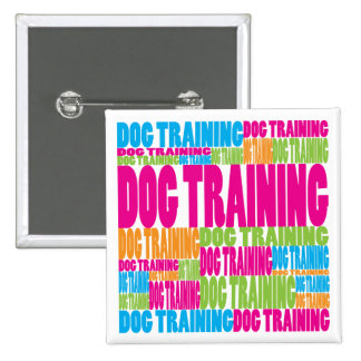 Colorful Dog Training 15 Cm Square Badge