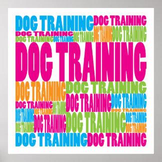 Colorful Dog Training Print
