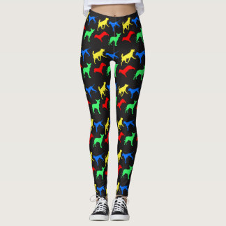 Colorful dogs pattern leggings