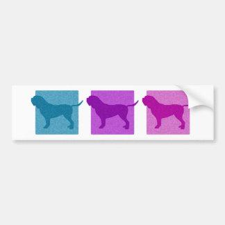 Colorful Dogue de Bordeaux Silhouettes Bumper Sticker