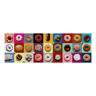 Colorful Donuts Extra Wide Poster