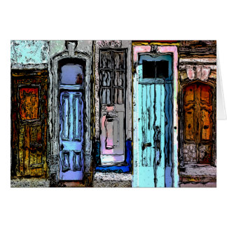 Colorful Doors Collage Card