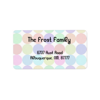 colorful dots address label