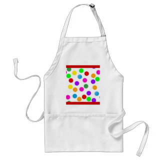 colorful_dots_on_white adult apron