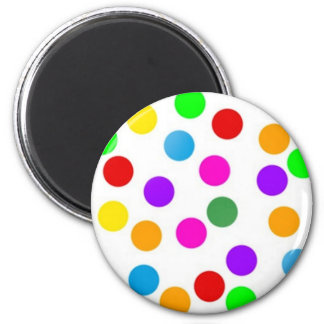 colorful_dots_on_white fridge magnet