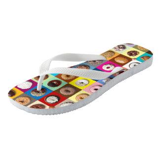 Colorful Doughnuts Flip Flops