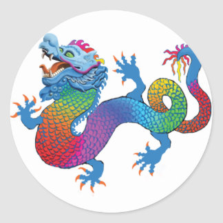 Colorful Dragon Sticker
