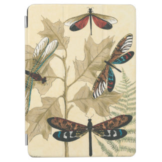 Colorful Dragonflies Floating Above Leaves iPad Air Cover