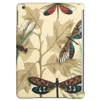 Colorful Dragonflies Floating Above Leaves iPad Air Case