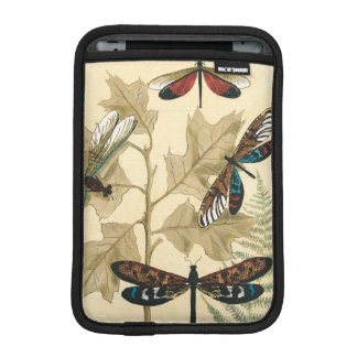 Colorful Dragonflies Floating Above Leaves iPad Mini Sleeve