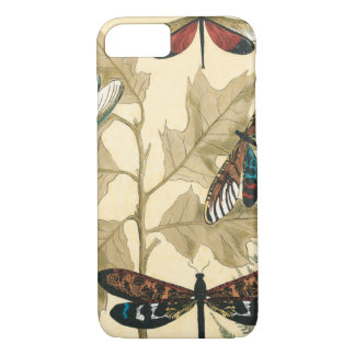 Colorful Dragonflies Floating Above Leaves iPhone 8/7 Case