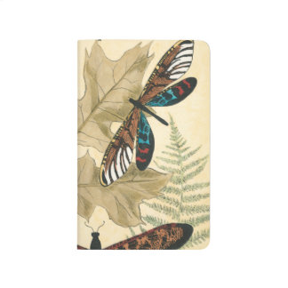 Colorful Dragonflies Floating Above Leaves Journal