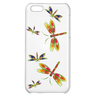 Colorful dragonflies iPhone 5c Case