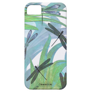 Colorful Dragonfly Abstract Custom Case For The iPhone 5