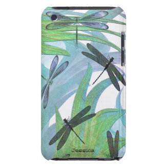 Colorful Dragonfly Abstract Custom iPod Case-Mate Case