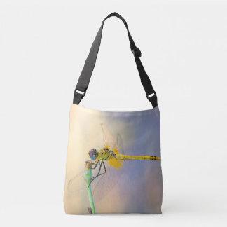 Colorful dragonfly crossbody bag