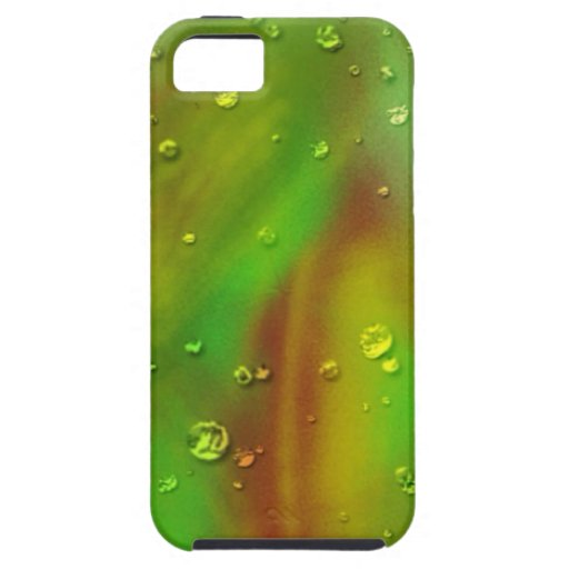 colorful dreams, green, wet iPhone 5 covers