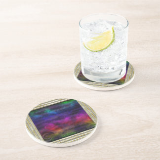 Colorful Dreamy Abstract Coaster