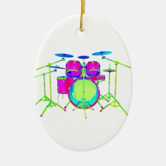 Colorful Drum Kit Christmas Ornament